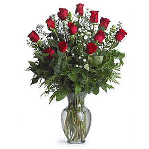 Red Roses Arranged
