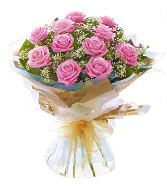 Pink Roses Wrapped